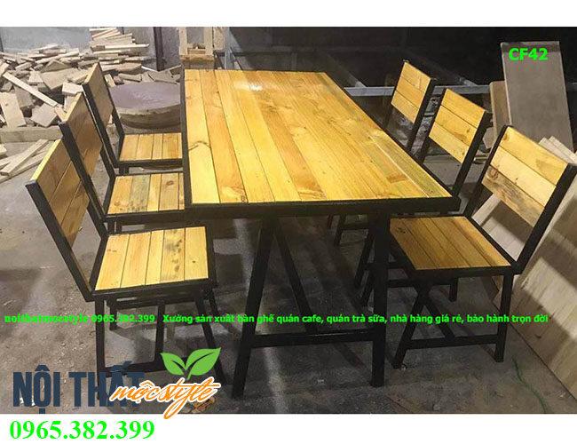Bàn ghế cafe CF42 đẹp, giá rẻ, bàn ghế nhà hàng, quán cafe