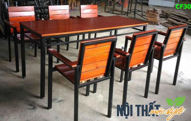 Bàn ghế cafe, bàn ghế nhà hàng CF30 đẹp sang trọng, giá tốt