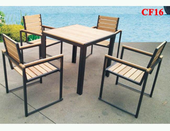 noithatmocstyle.vn-Bàn ghế chân sắt mặt gỗ CF16 đẹp