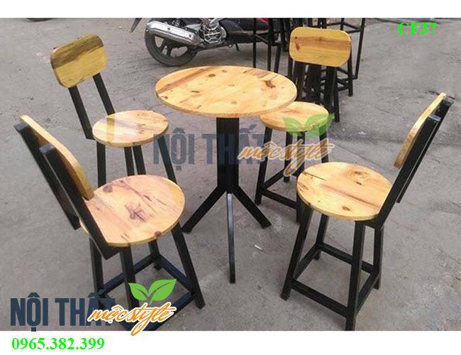Bàn ghế cafe CF37, đẹp mộc mạc, giá rẻ nhất