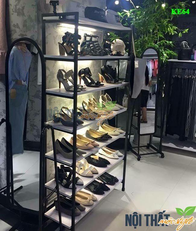 noithatmocstyle.vn-Kệ trang trí KE64 cho shop giầy dép
