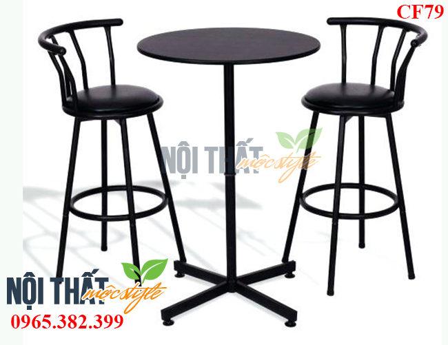 Bàn ghế bar cafe CF79 đẹp, phong cách vinatage