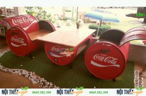 noithatmocstyle.vn-Bàn ghế thùng phi TP07 đẹp sáng tạo