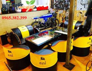 noithatmocstyle.vn-Bàn ghế thùng phi sáng tạo nhất
