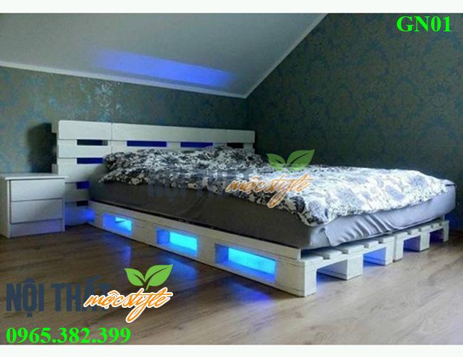 Mua giường pallet đẹp độc đáo-noithatmocstyle.vn