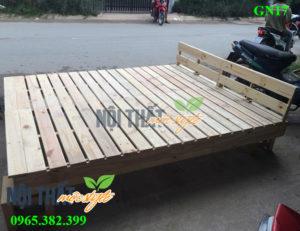 Giường pallet gỗ GN17, giường ngủ giá rẻ-noithatmocstyle.vn