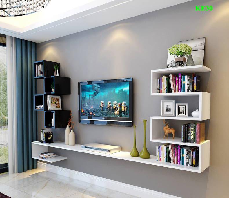 Kệ góc, kệ tivi đẹp cho phòng khách - noithatmocstyle.vn