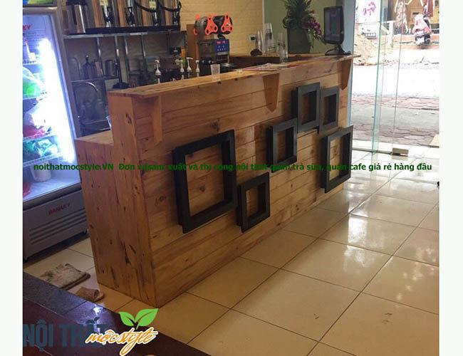 noithatmocstyle.vn-Quầy bar quán trà sữa QB10