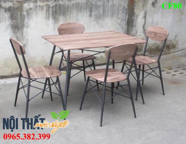 Bàn ghế cafe CF80 mang đậm chất Vintage đẹp cổ điển và sang trọng, giá rẻ nhất
