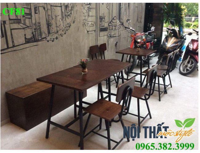 Bàn ghế cafe CF81 đậm chất Vintage, tạo hình đẹp với phong cách chất lừ