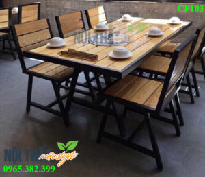 Bộ Bàn ghế lẩu nướng CF103 đẹp sang trọng, giá rẻ nhất cho nhà hàng lẩu nướng