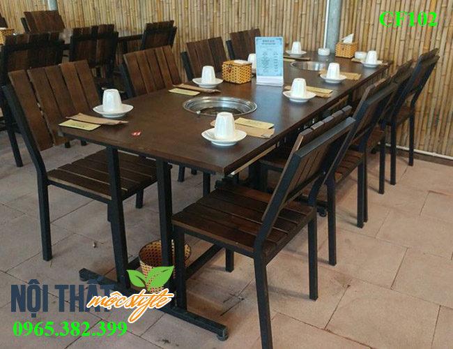 bàn ghế lẩu nướng đẹp, giá rẻ nhất Hà Nội-noithatmocstyle.vn