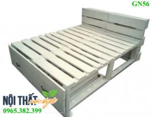 giường pallet Gn56 giá rẻ, đẹp nhẹ nhàng, tinh khôi