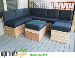 bàn ghế gỗ phòng khách PK04 đẹp hiện đại và trang nhã-noithatmocstyle.vn