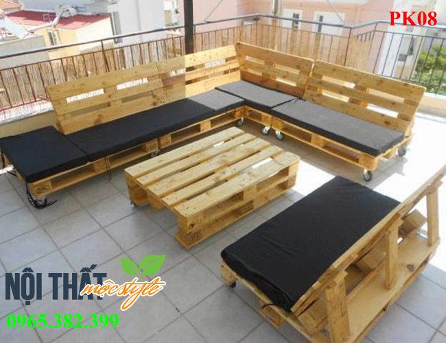 bàn ghế phòng khách PK08 đẹp mộc mạc, giá rẻ nhất Hà Nội