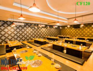 Bộ Bàn ghế lẩu nướng CF120 thiết kế thoải mái, độc đáo, sang trọng -noithatmocstyle.vn