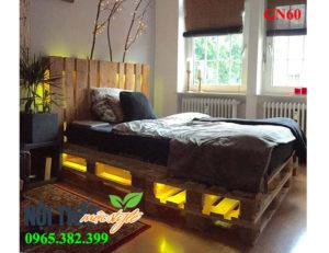 Giường pallet Gn60 đẹp mộc mạc mà đầy lãng mạn