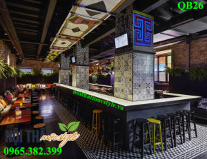 Mẫu Quầy bar đẹp QB26 sang trọng, đẳng cấp