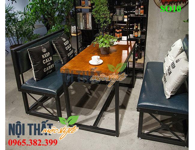 Bàn ghế sofa cafe SO10 đẹp cá tính, nổi bật