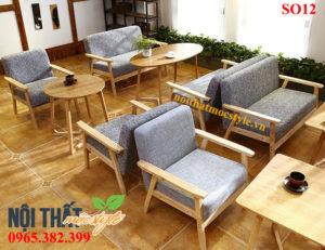 Bàn ghế sofa cafe SO12 đẹp sang trọng, hiện đại