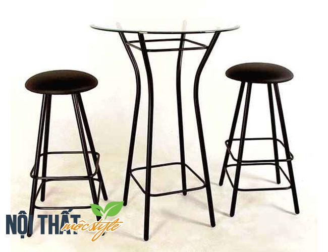 bàn ghế bar GB09 đẹp cá tính với phong cách công nghiệp