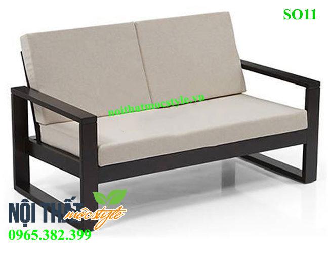 Mẫu Ghế sofa cafe SO11, ghế đi văng khung sắt đẹp, trang nhã