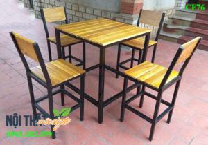 Bàn ghế nhà hàng CF76 giá rẻ Hà Nội