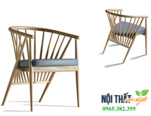 Ghế gỗ cafe Genny sang trọng, đẳng cấp phong cách Ý