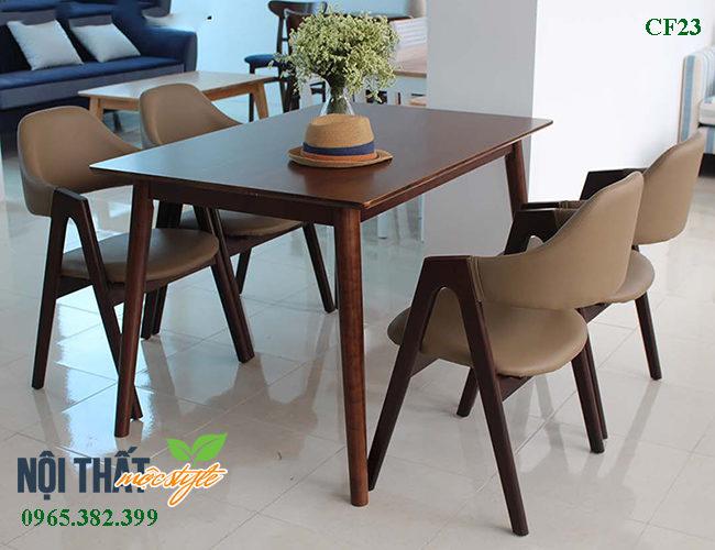 Bàn ghế nhà hàng emma CF23 cho không gian nhà hàng sang trọng, bàn ghế ăn gia đình ấm cúng, giá rẻ nhất tại Mộc Style