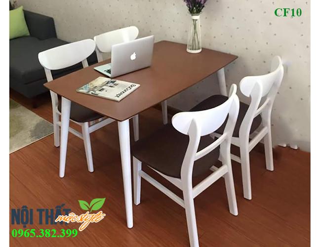 Mẫu bàn ăn 4 ghế hiện đại, phù hợp với những căn hộ chung cư gia đình, giá chỉ 2,9 triệu