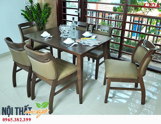 Bàn ghế nhà hàng CF24-Bàn ghế ăn sang trọng