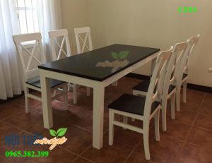 Bàn ghế ăn CF04-Bàn ghế nhà hàng CF04 đẹp, giá rẻ tại nhà Mộc