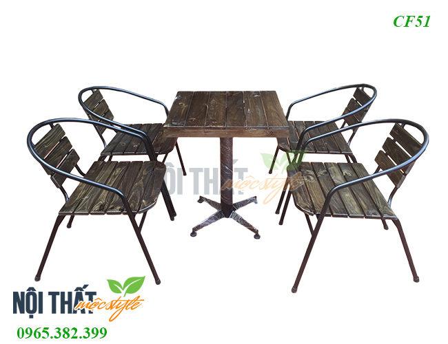 Bàn ghế cafe CF51-Bàn ghế ngoài trời đẹp độc đáo