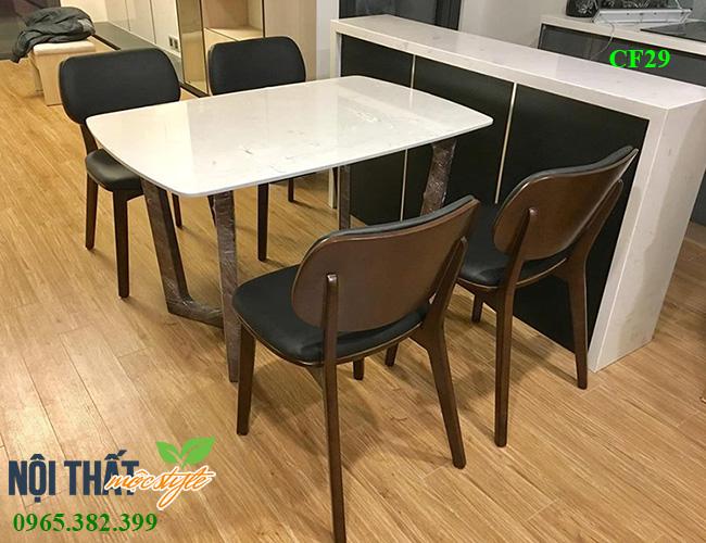 Bộ bàn ghế ăn PLC mã CF29 đẹp hiện đại, sang trọng-Nội thất Mộc Style