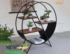 Kệ sắt trang trí KE80-Kệ tròn ấn tượng cho không gian cafe sáng tạo, món nội thất không thể thiếu của mọi nhà