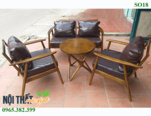 Bàn ghế sofa cafe đẹp, sang trọng, giá rẻ hàng đầu Hà Nội tại Nội thất Mộc Style