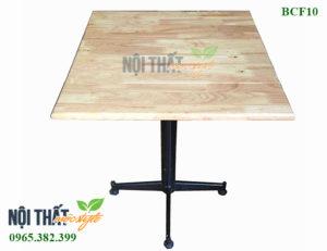 Mộc Style - Xưởng sản xuất bàn cafe BCF10 bàn chân sắt mặt gỗ cao su giá rẻ cho mọi không gian