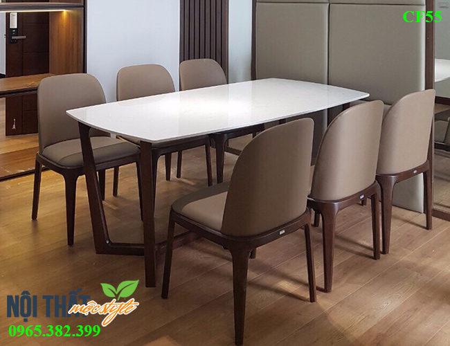 Bàn ghế ăn Grace CF55 1 bàn 6 ghế, giá xuất xưởng rẻ nhất Hà Nội