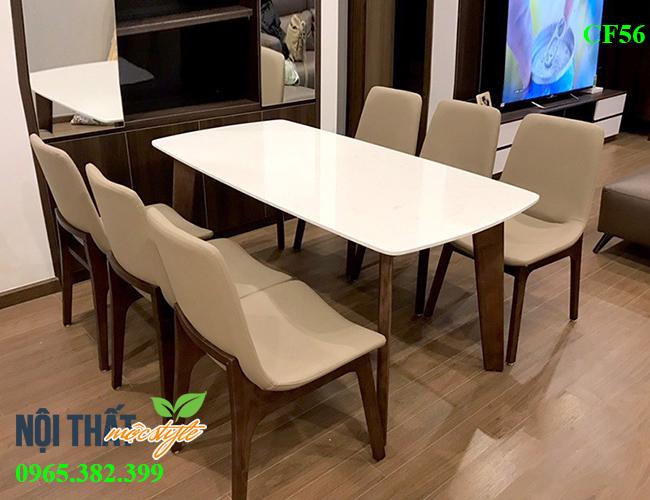 Bàn ghế ăn ventura CF56 - Bộ bàn ăn 6 ghế sang trọng