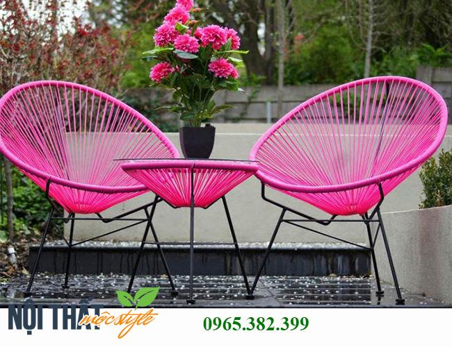 Bàn ghế cafe ngoài trời CF58 đẹp hiện đại, nâng niu trải nghiệm khách hàng