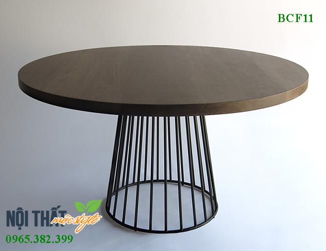 Bàn cafe BCF11 đẳng cấp dành cho không gian cafe, bàn ăn gỗ sồi sang trọng