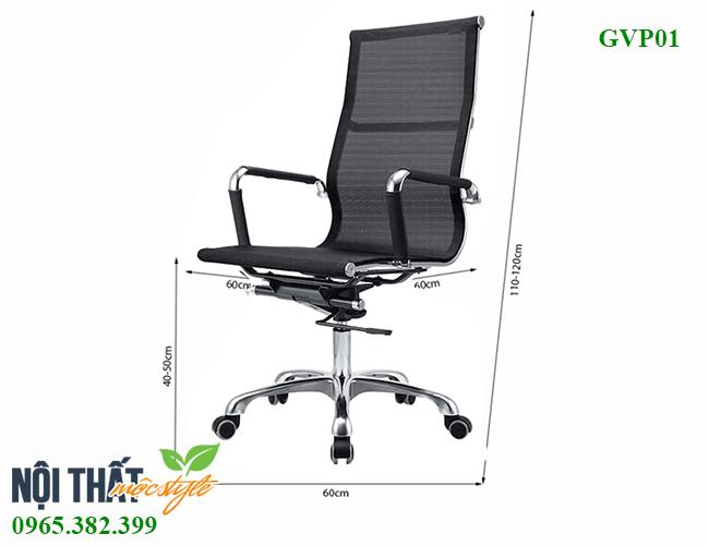 Ghế văn phòng GVP01 đẹp, giá tốt nhất tại Mộc Style