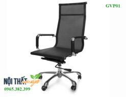 Ghế văn phòng GVP01, ghế chân xoay tiện lợi, khung inox chắc chắn