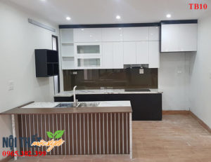 Tủ bếp TB10 kết hợp đảo bếp sang trọng cho không gian bếp tiện nghi và đẳng cấp