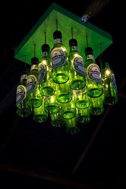 Đèn chùm bằng chai bia độc đáo