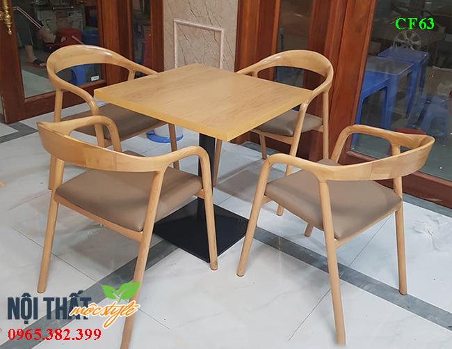 Bàn ghế cafe CF63 đẹp tinh tế và sang trọng, giá cực rẻ tại xưởng Mộc Style