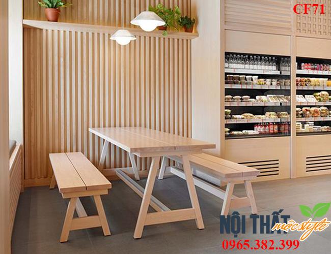 Mẫu Bàn ghế nhà hàng CF71 đẹp mộc mạc đậm chất rustic style thân thiện, ấm áp