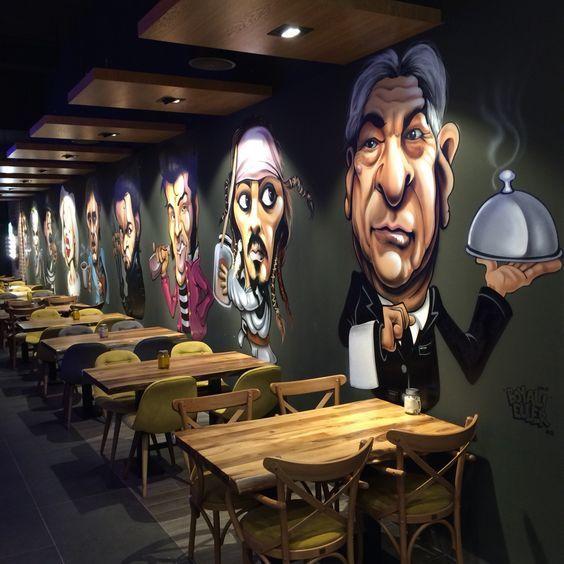 Cách trang trí quán ăn bằng tranh tường thú vị-Nội thất Mộc Style
