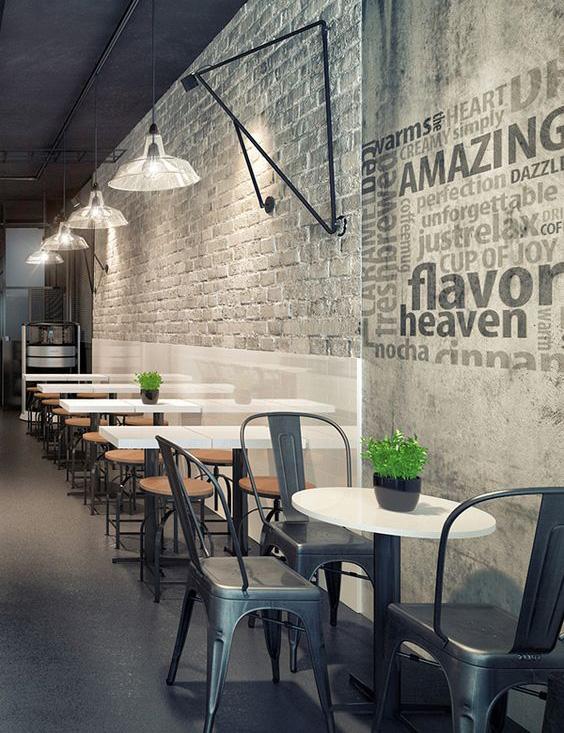 Cách trang trí quán ăn đẹp bằng typography