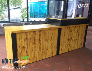 Mẫu Quầy bar cafe QB12 đẹp, giá rẻ nhất tại Nội thất Mộc Style